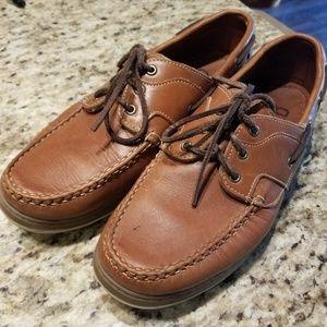Allen Edmonds boat shoe. Lightly worn.
